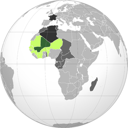 Location of French Sudan
