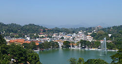 Kandy lake and the City centre