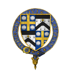 Coat of arms of Sir William Kingston, KG.png