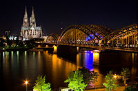 Nightview of Cologne Cathedrale across the River Rhine.jpg