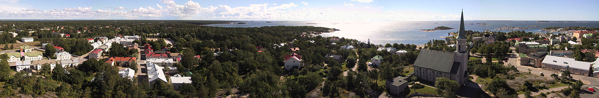View from the water tower in Hanko, Finland.