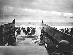 US Coast Guardsman invade Nazi-controlled France on D-Day