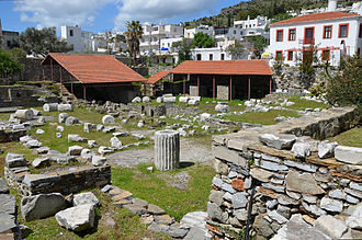 The ruins of the Mausoleum at Halicarnassus.jpg