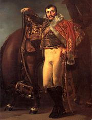 Portrait of Claude-Étienne Guyot in hussar uniform