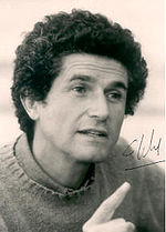 Sepia photo of Claude Lelouch in the 1970s.