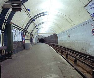 View along platform in 1994.