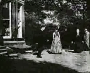 A screenshot of Roundhay Garden Scene by the French Louis Le Prince, the world's first film