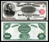 $1,000 Treasury note (1890–91), Series 1891, Fr.379c, depicting George Meade.