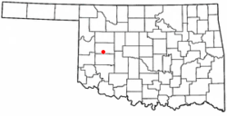 Location of Clinton, Oklahoma