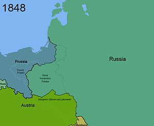 Territorial changes of Poland 1848