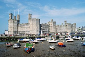 Photograph of Caernarfon castle
