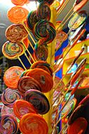 Lollipops in shop display, September 2009.jpg