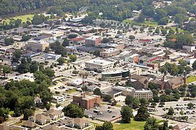 Aerial View of Uptown Greenville