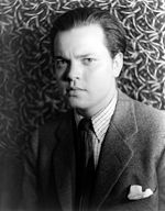 Black-and-white portrait of Orson Welles by photographer Carl Van Vechten in 1937.
